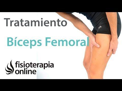 Tendinitis del bíceps femoral - Tratamiento con ejercicios, automasajes y estiramientos - YouTube