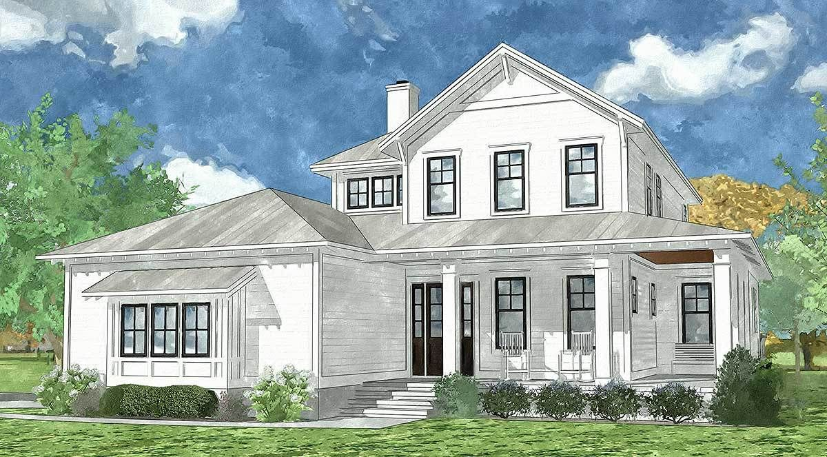 Plan 15096NC: Country Home with Spacious Front and Rear Porches ...