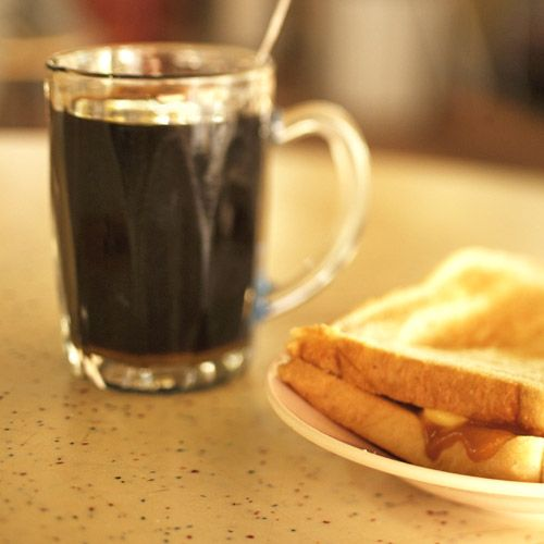 Start Your Day With Light As Air Toast Slathered With Kaya And Butter Accompanied With A Cup Of Thick And Dark Kopi O At Xiang Xiang Coffee Stall Makanan Kopi