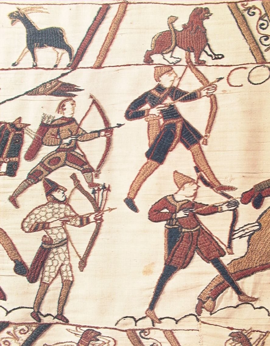 Teppich Von Bayeux Reading Bayeux Tapestry Archers The Conquest In 2019 Bayeux Tapestry