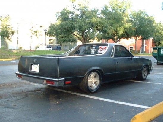 1983 El Camino Matte Black Chevrolet Colorado El Camino Car