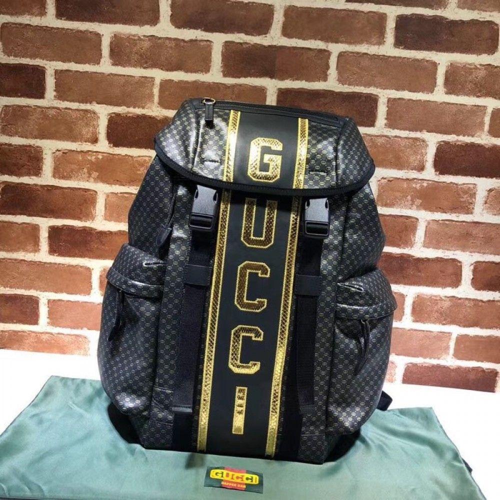 767542c91f6e0d Gucci-Dapper Dan backpack 536413 Black | Luxury Backpacks | Replica ...