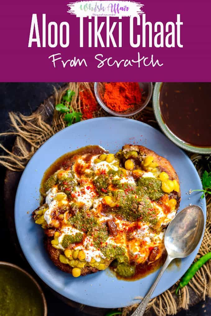 aloo tikki chaat is one of the fav chaat dishes it is a popular street food of india and is on hebbar s kitchen recipes aloo tikki id=18457