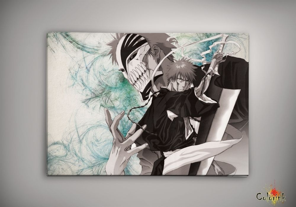 Image of bleach - Ichigo Espada Bankai Shinigami watercolor print poster n145