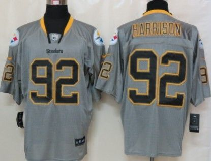 promo code 372f5 72a6b Nike Pittsburgh Steelers #92 James Harrison Lights Out Gray ...