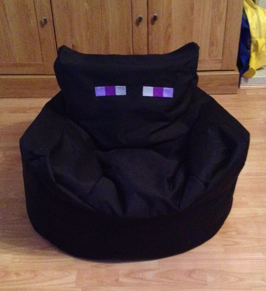 Sensational Minecraft Enderman Beanbag Chair I Made For My Little Boy Ocoug Best Dining Table And Chair Ideas Images Ocougorg
