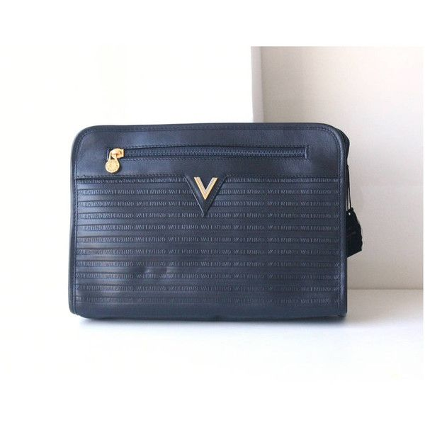 Mario Valentino Black Leather Second Bag Vintage Authentic Purse 85 Liked On Polyvore Featuri Leather Handbag Purse Real Leather Handbags Vintage Handbags