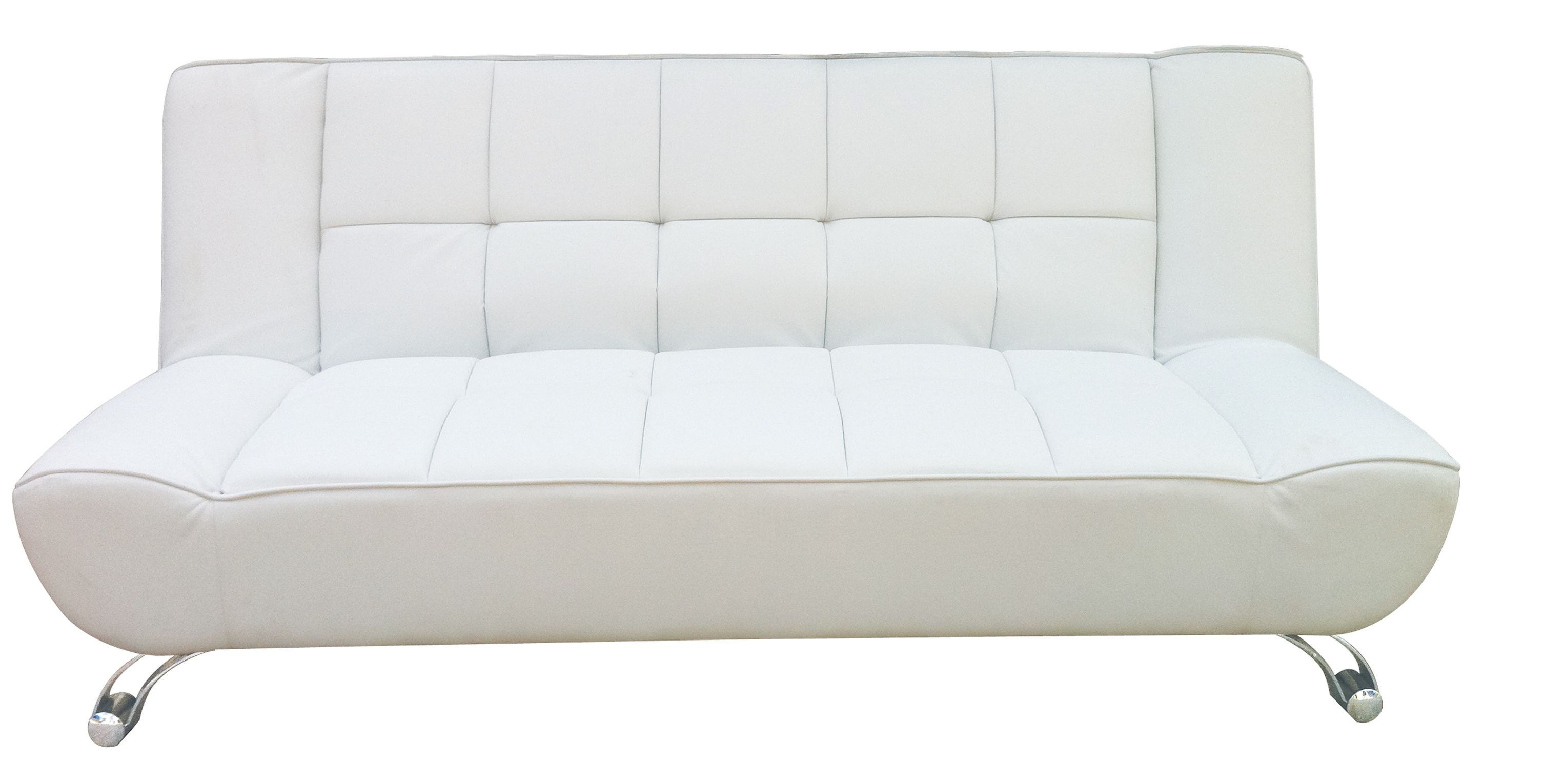 Vogue A Contemporary, Sofa Bed, Available In Black Or White Faux Leather,  With