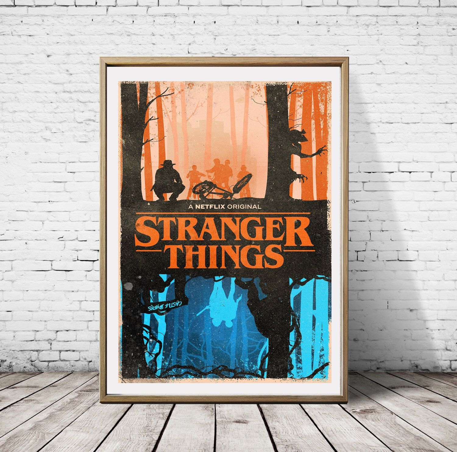 Stranger Things Upside Down Things The Two Worlds Alternative Artwork Minimalist Tv Series Print Poster by Perdashka on Etsy https://www.etsy.com/listing/488386501/stranger-things-upside-down-things-the