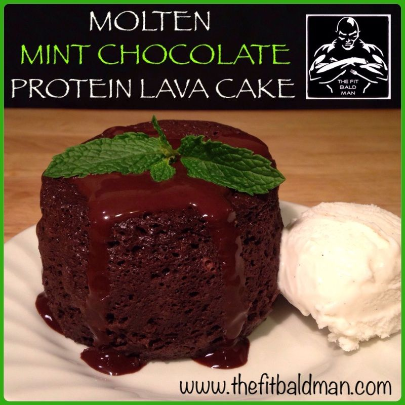 Molten Mint Chocolate Lava Protein Mug Cake The Fit Bald