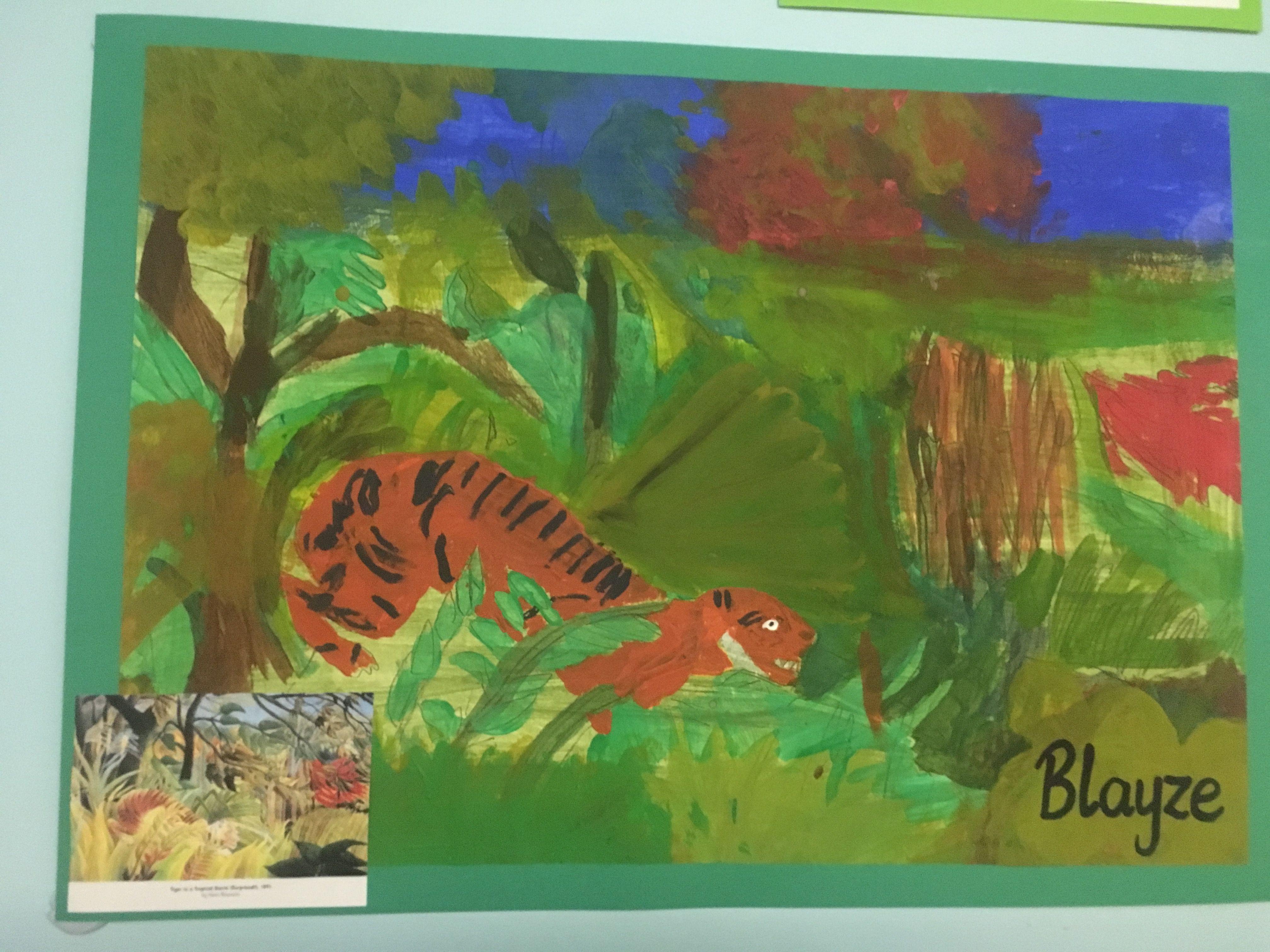 Rainforest Henri Rousseau Acrylic Paint Project Ks2 Year 3