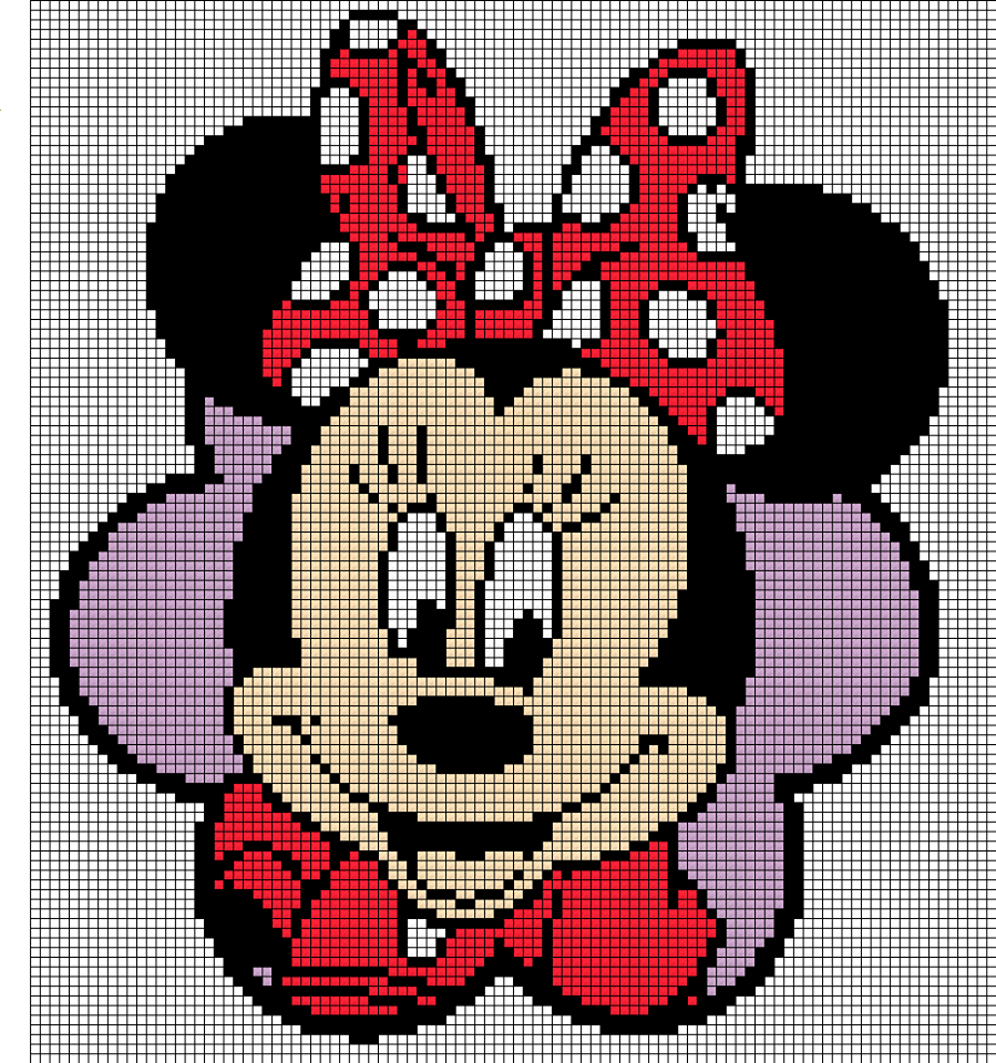 pixeldeken minnie | cross stitch | Pinterest | Bügelperlen, Deckchen ...
