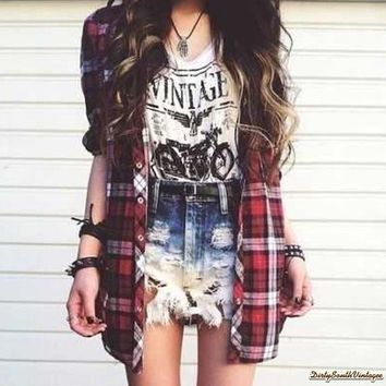 mystery vintage t shirt flannel hipster shirt pick your size t o b e me. Black Bedroom Furniture Sets. Home Design Ideas