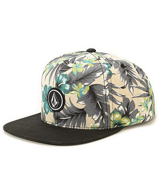 07d1b8dfb43 Volcom Quarter Floral Snapback Hat