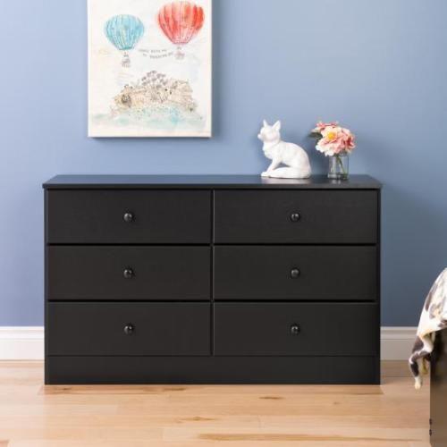 Astrid 6-Drawer Dresser Bedroom Furniture NEW in Black, Espresso ...