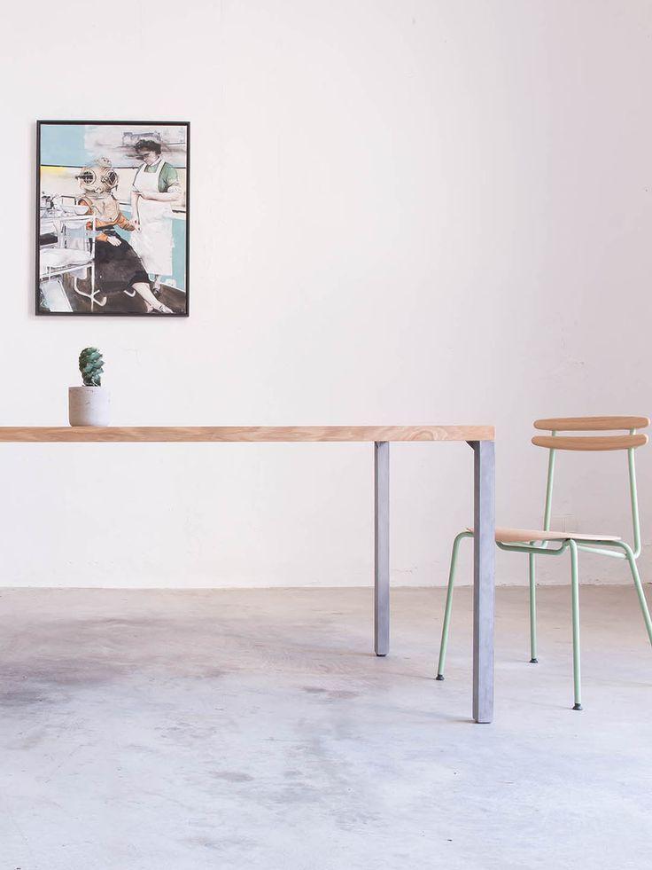 Lola Concrete Esstisch filigran   Massivholz & Beton ...