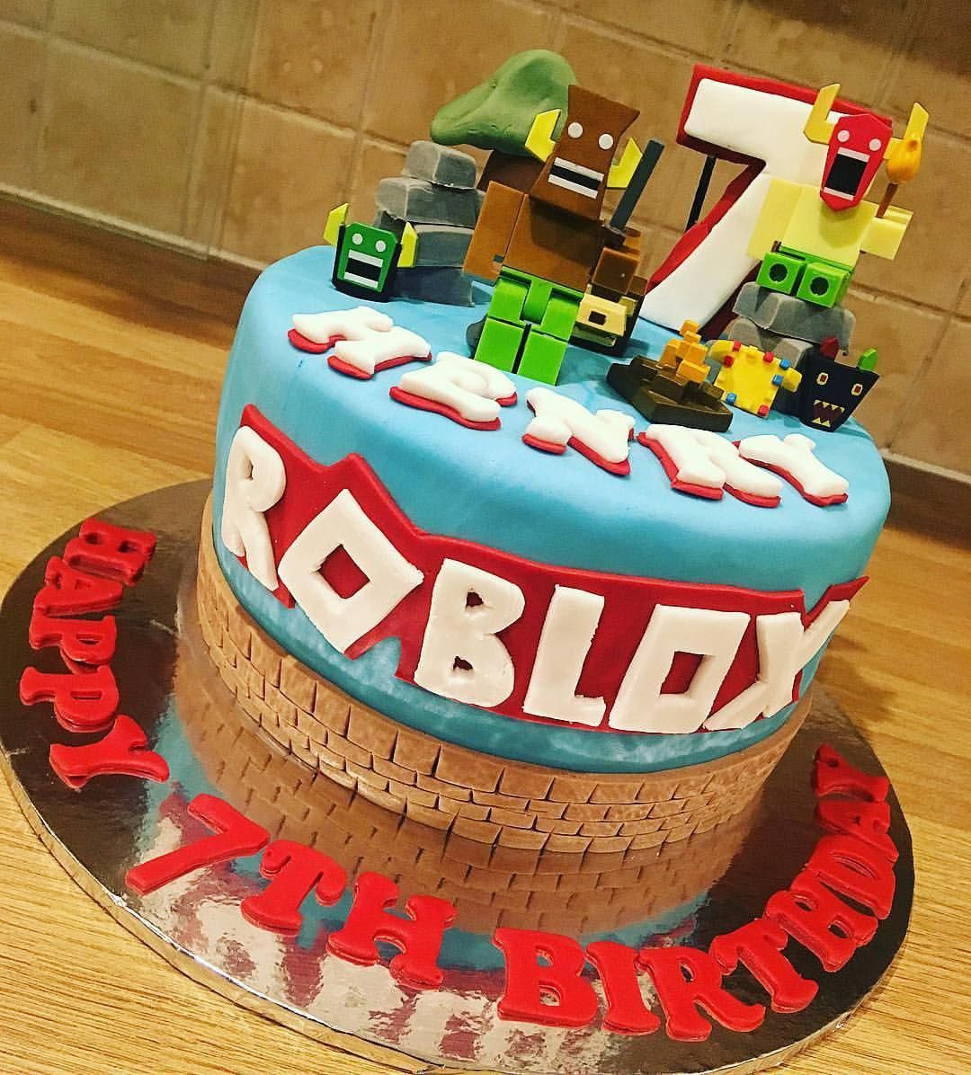 Yummy Chocolate Roblox Cake For Henry S 7th Birthday
