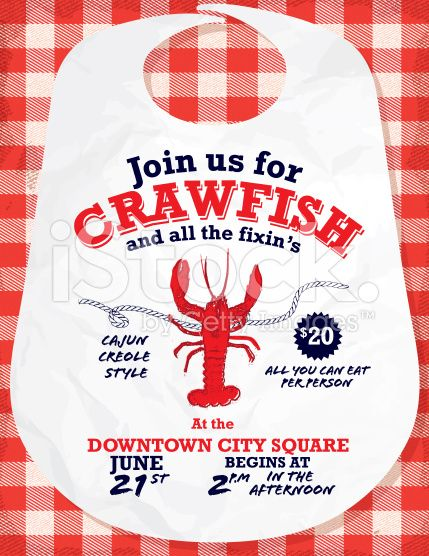 picture about Crawfish Boil Invitations Free Printable called Vector example of a Crawfish boil invitation design and style
