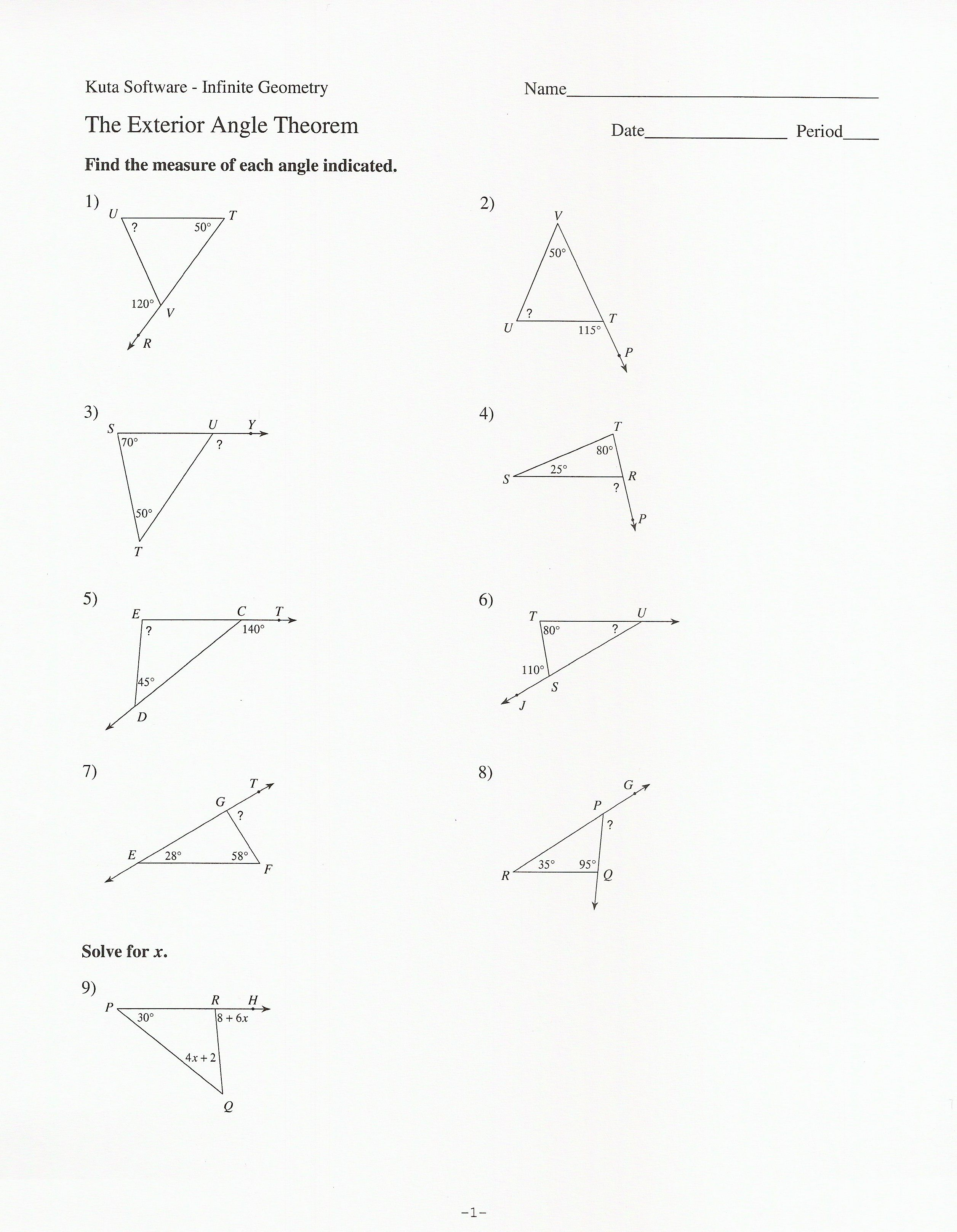 3rd Quarter Assignments whmsmath Triangle angles