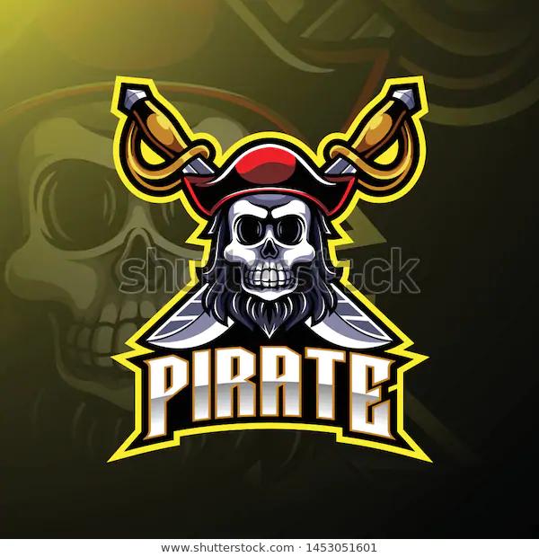 Pirates Mascot Gaming Logo Design Stock Vector Royalty Free 1453051601 Logo Youtube