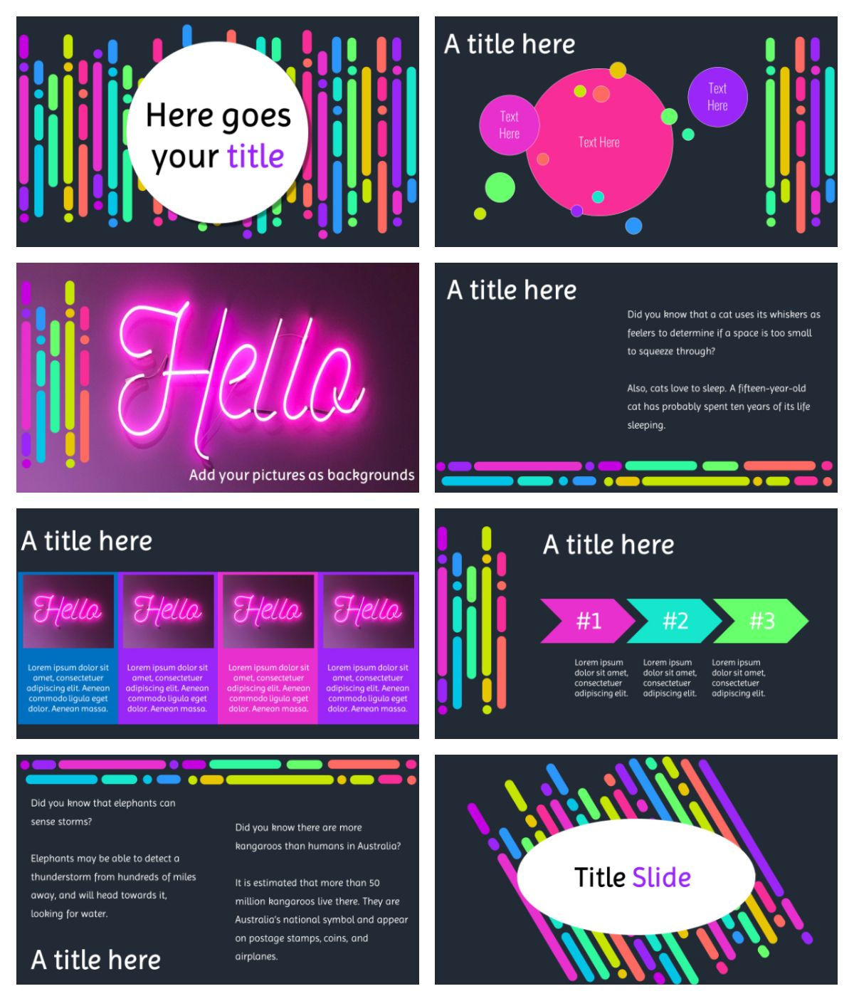Neon Free Template For Google Slides And Powerpoint Free Powerpoint Presentations Powerpoint Powerpoint Design