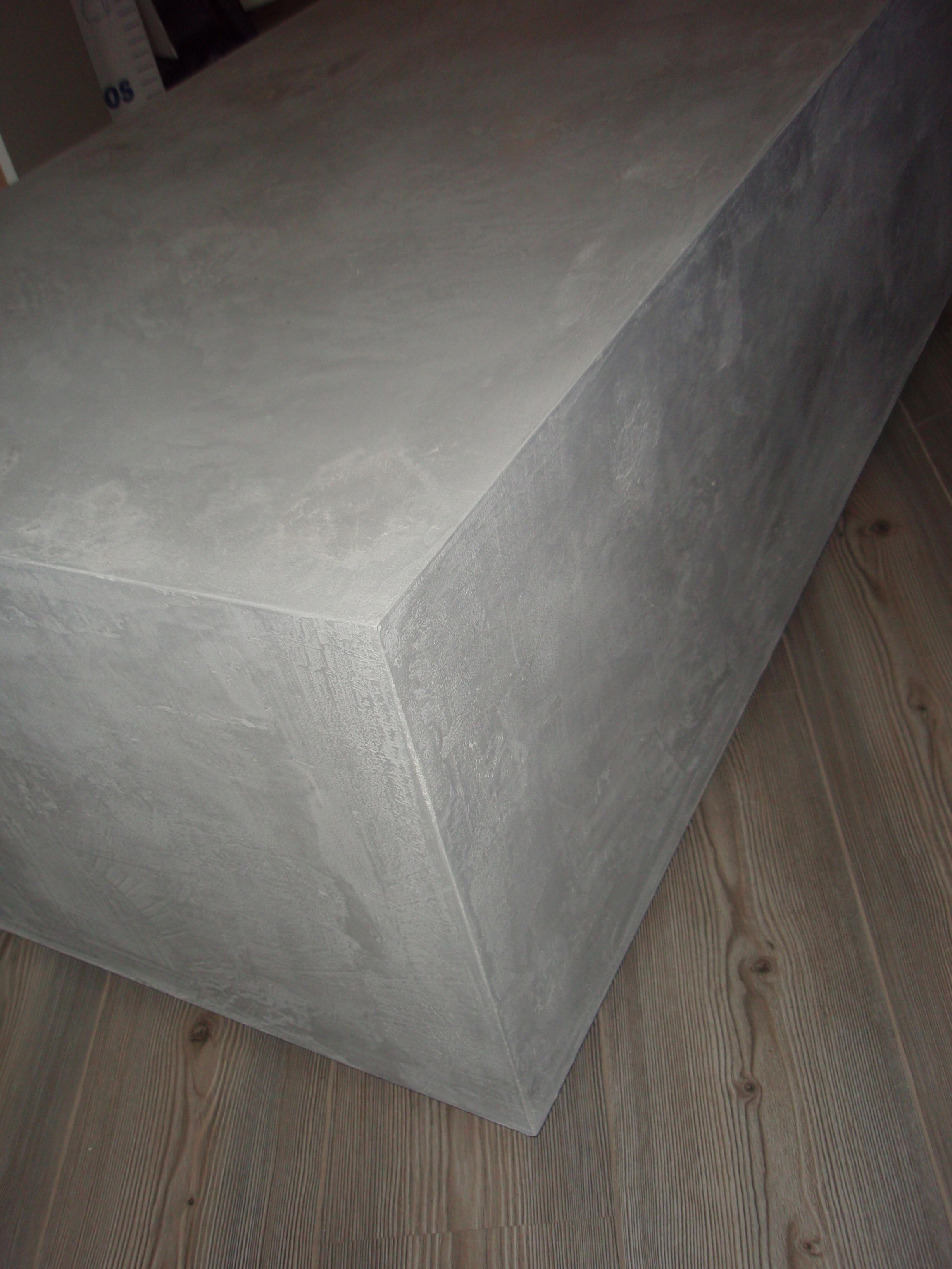 Beton cire over mdf eigen werk pinterest diy and crafts - Beton wax badkamer ...