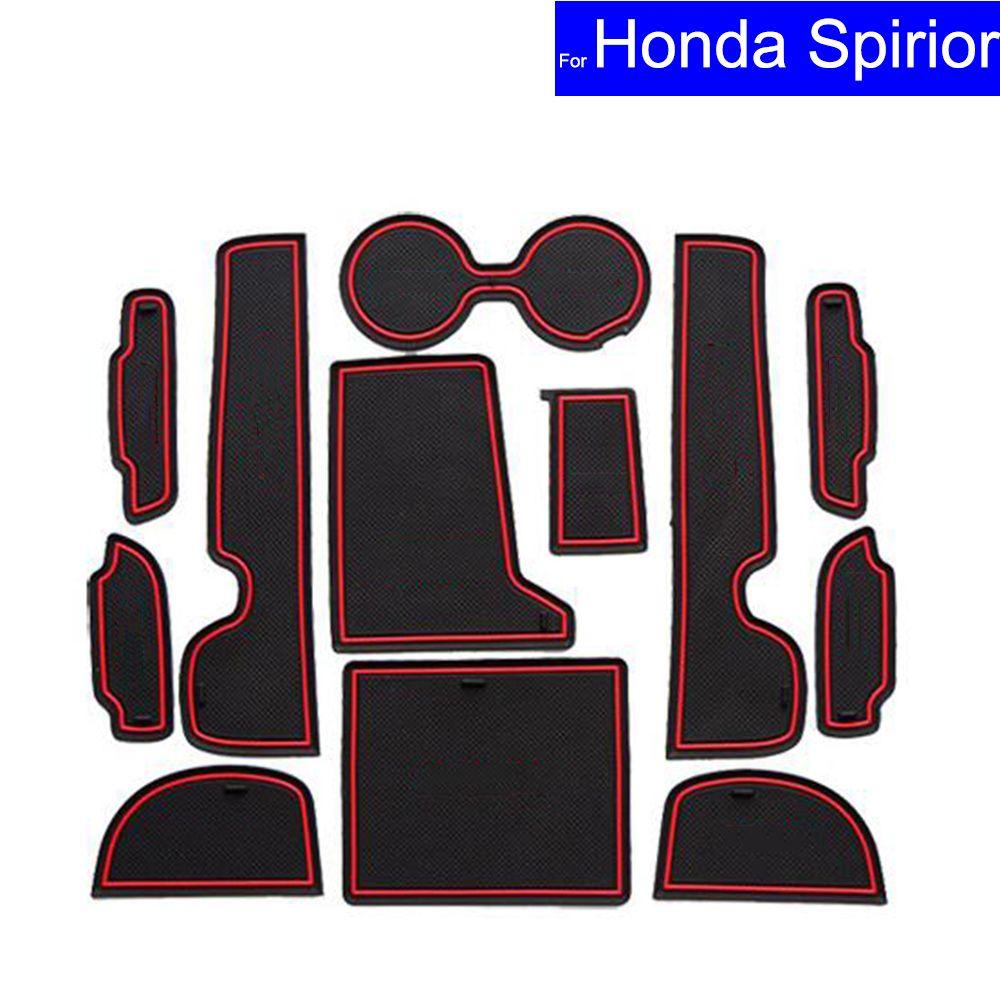 12 Pcs Car Non-slip Door Gate Slot Mats Carpets Position Cup Holder Pads For Honda Spirior 2015 Door Groove Mat Free Shipping