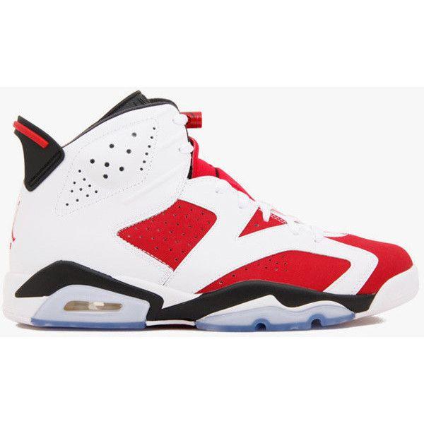 pretty nice cbd2a be718 Nike Air Jordan 6 Retro Carmine ( 399) ❤ liked on Polyvore featuring shoes,.  Jordans SneakersNike ...