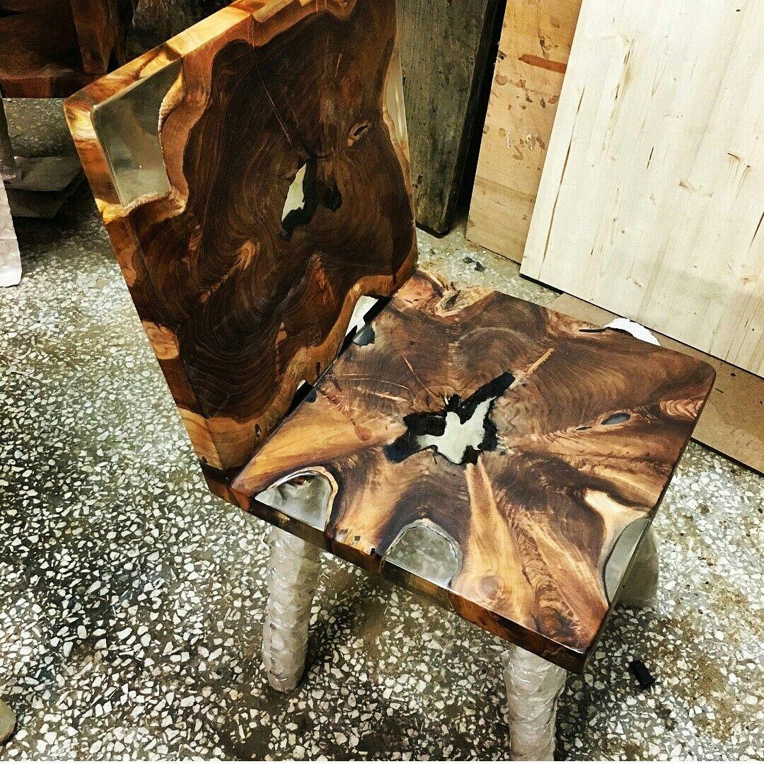 Teak Epoxy Chair By Lara Wood Design In 2019 Epoxy Resin