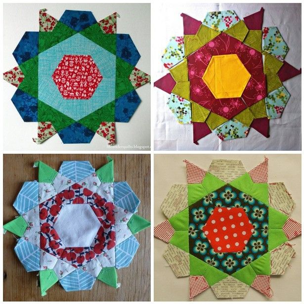 English Paper Pieced Patchwork Rose Stars Taken From The Block Party English Paper Piecing Quilts Paper Piecing Quilts Paper Piecing Tutorial