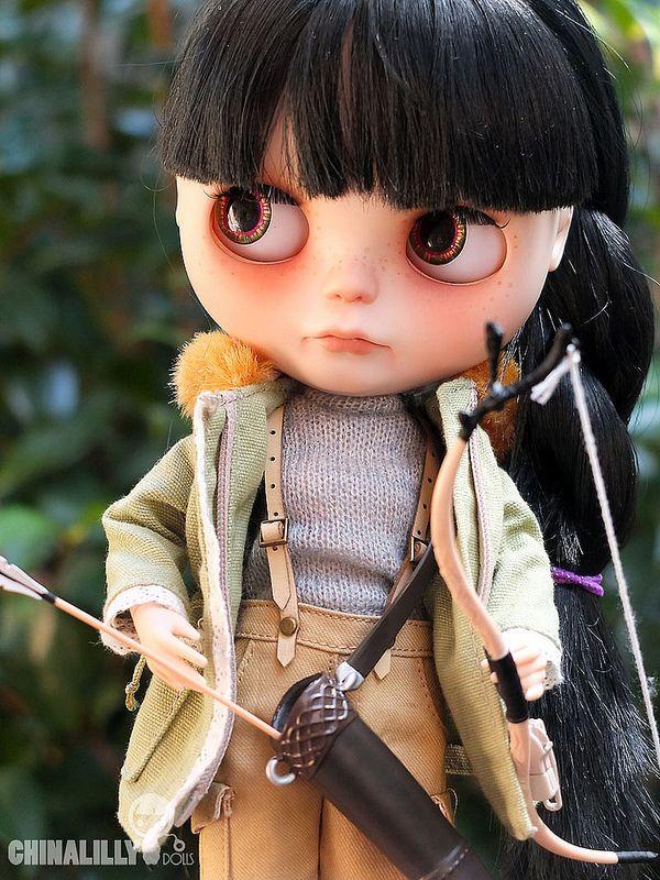 Katniss finally has her bow and arrow