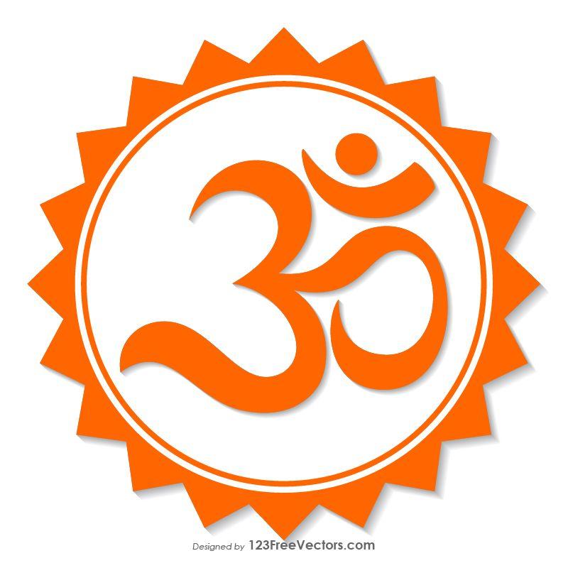 Orange Om Symbol in 2020 | Om symbol, Hindu symbols, Symbols