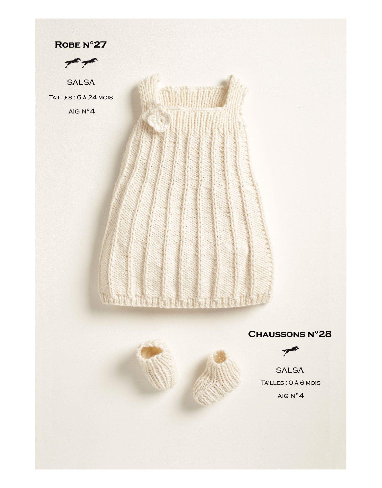 Modèles robe-chaussons cb18-26-27- patron tricot gratuit - Cheval ...