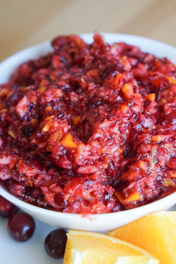 Cranberry Relish [3 Ingredients!] - Num's the Word