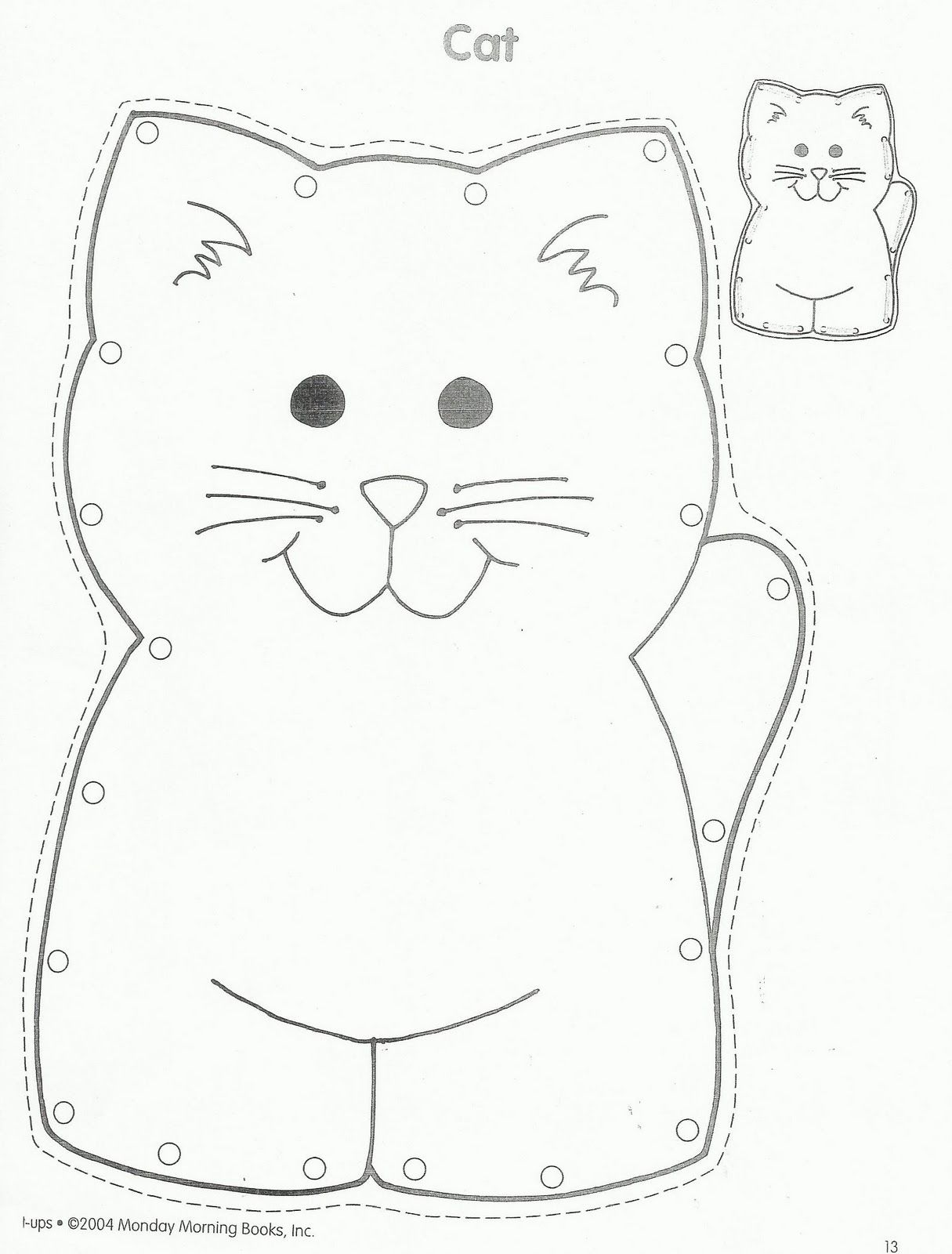 Squish Preschool Ideas- have children color cat and then