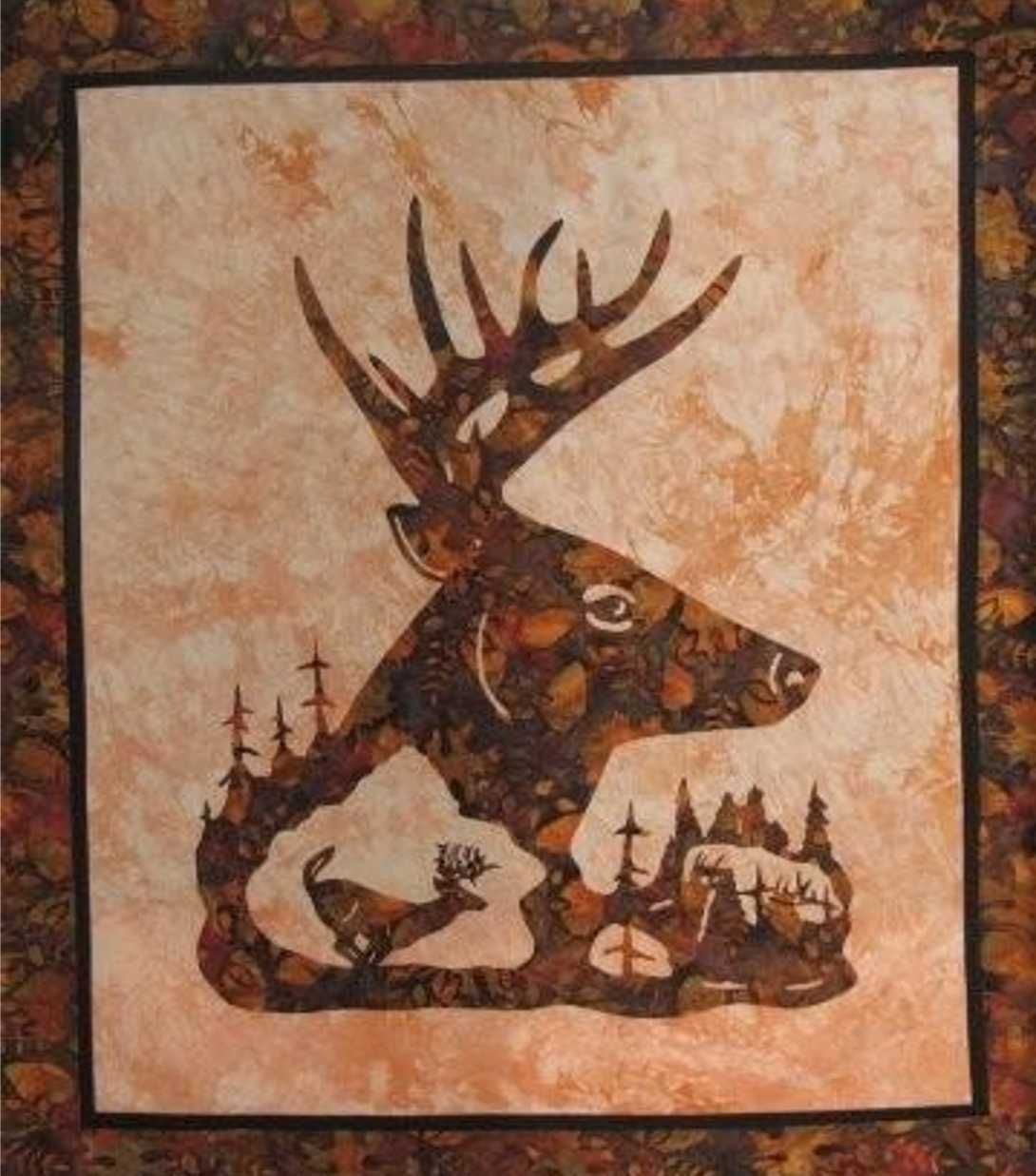 quilt patterns for beginners free online | wallhanging pattern ... : deer quilts - Adamdwight.com