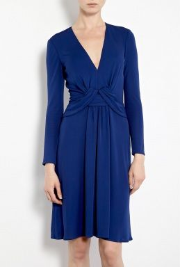Exclusive Front Wrap Detail Jersey Dress by Issa