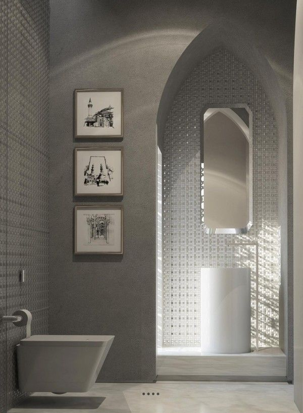 This Decidedly Modern Bathroom Uses The Moroccan Style As A Jumping Off Point For Contemporary