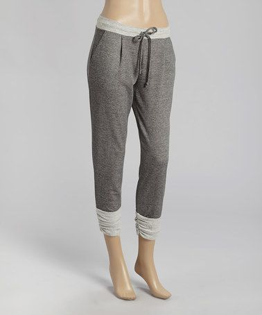 Love this Charcoal Drawstring Crop Pants by POPULAR BASICS on #zulily! #zulilyfinds