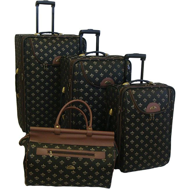 American Flyer Lyon Black 4-Piece Luggage Set by American Flyer ...