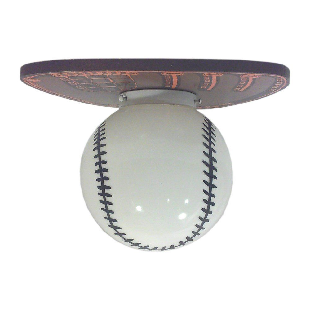 Vintage 1970 S Baseball Ceiling Light For The Man Cave Or A