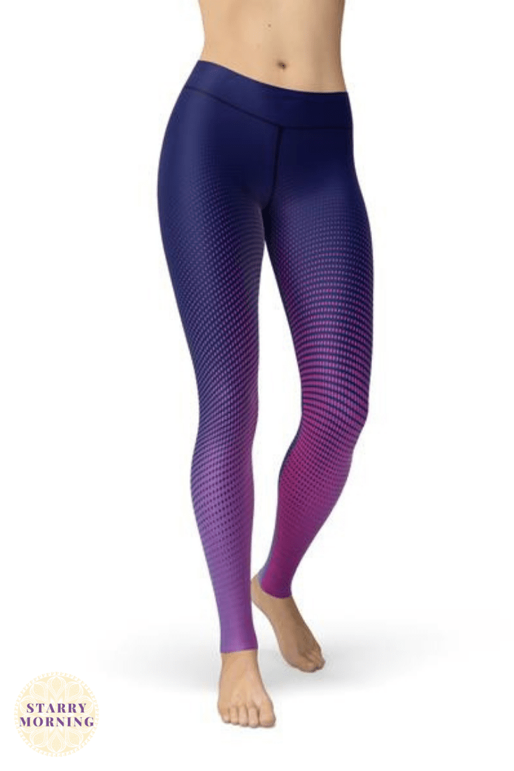 7470034ab23cf These Navy Blue-to-Pink Ombre Leggings are perfect for any workout. Save  20% On All New Arrivals Today ONLY! Just Use Coupon Code: NEW20