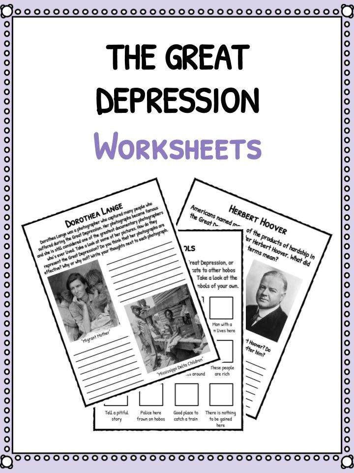 the great depression facts information worksheets school resource school pinterest. Black Bedroom Furniture Sets. Home Design Ideas