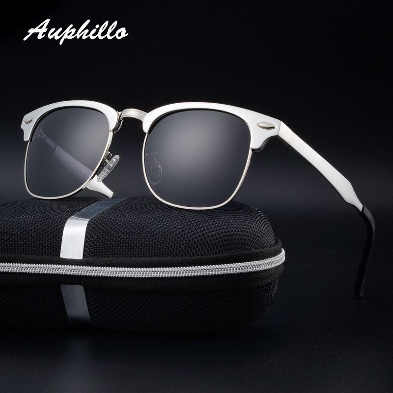 f805d54f31b Click to Buy    Auphillo Aluminum Men Polarized Sunglasses Brand ...