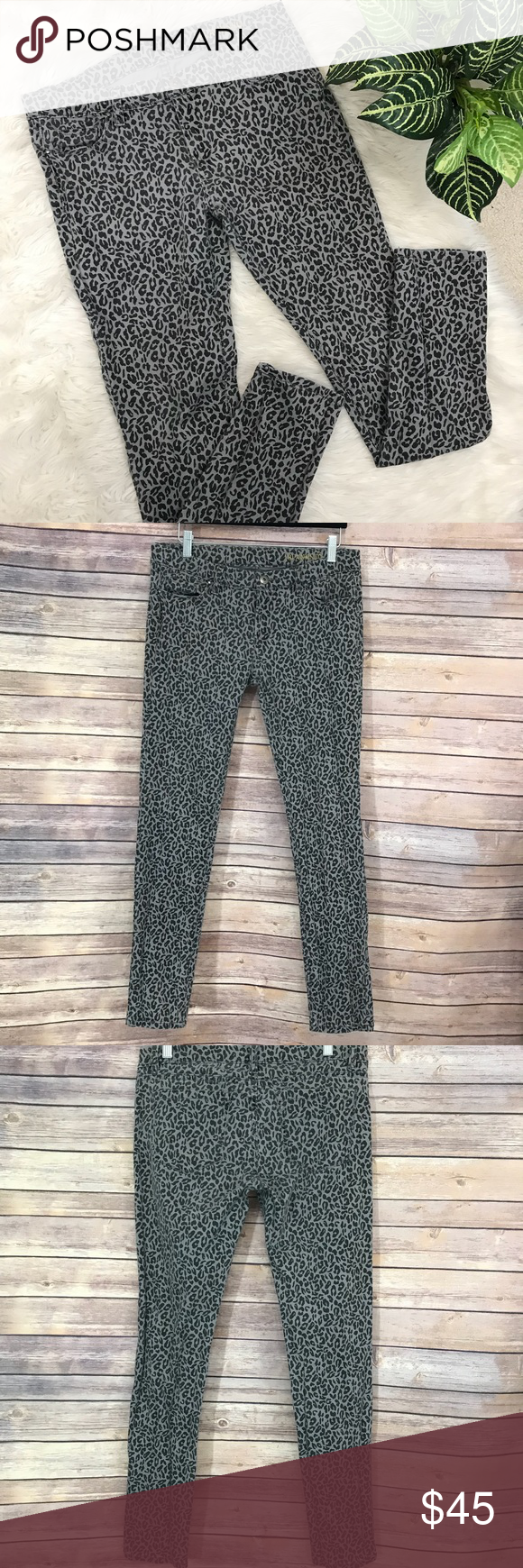 9d7d376e9f2e Blank NYC Gray Leopard animal print Skinny Jeans •Details• fun skinny jeans!  Stretchy leopard or cheetah print •Condition• Great Condition, lightly  worn, ...