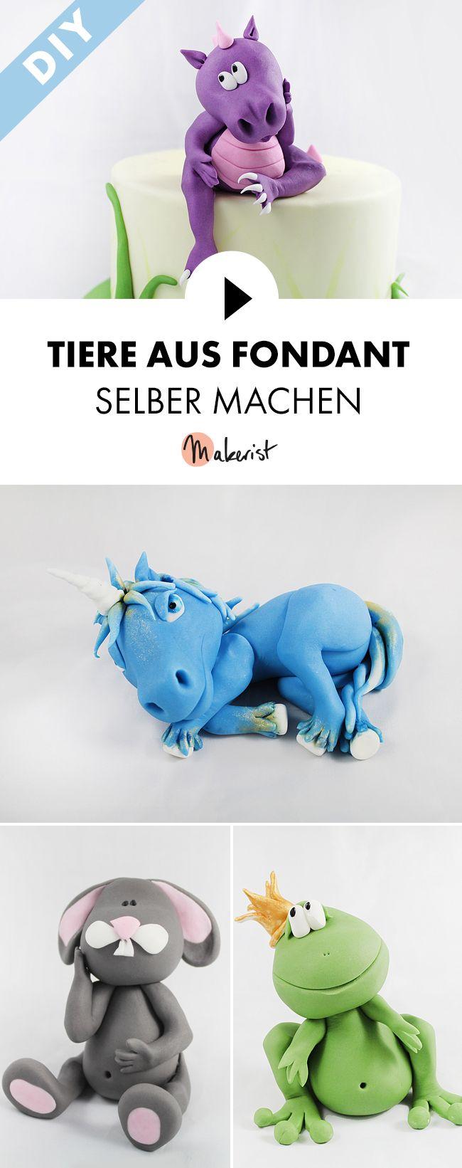 Modellieren von Tierfiguren mit Fondant als Caketopper zum Kindergeburtstag - Schritt für Schritt erklärt im Video-Kurs via Makerist.de #fondant