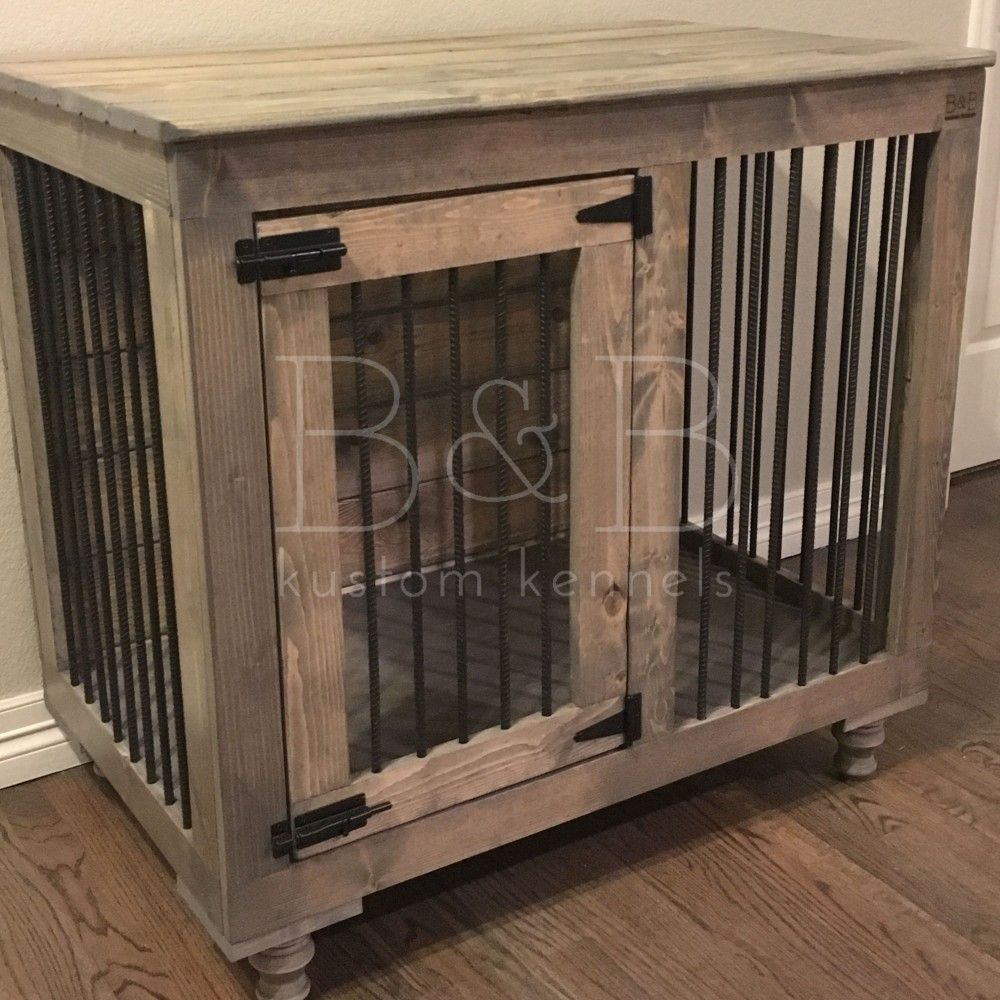 The Single Doggie Den™ Indoor Rustic Dog Kennel Crate