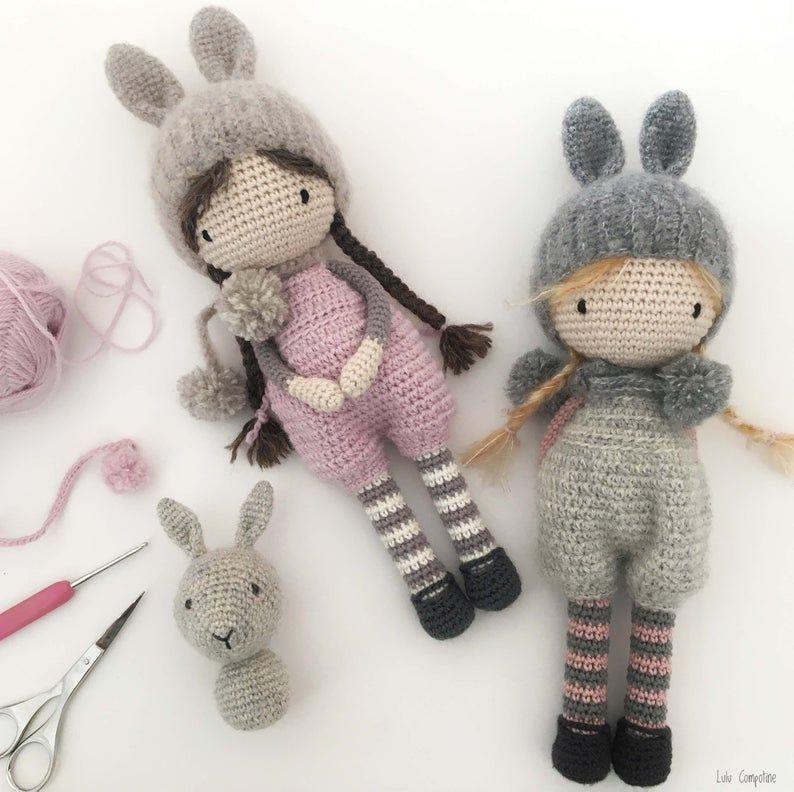 Tutoriel PDF en FRANCAIS/ANGLAIS lapin ballerine au crochet ... | 792x794