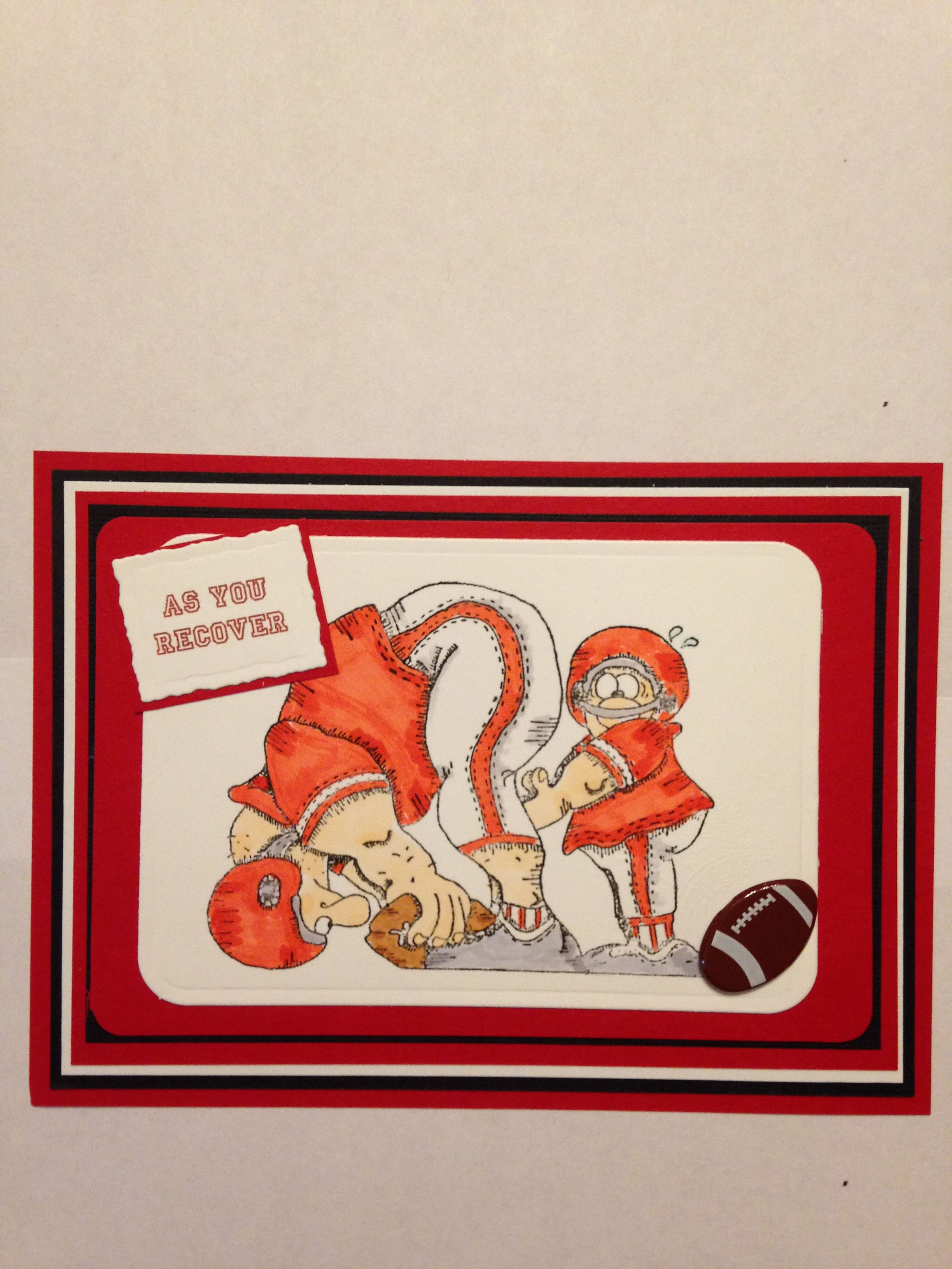 Get Well card for High School football player who was injured