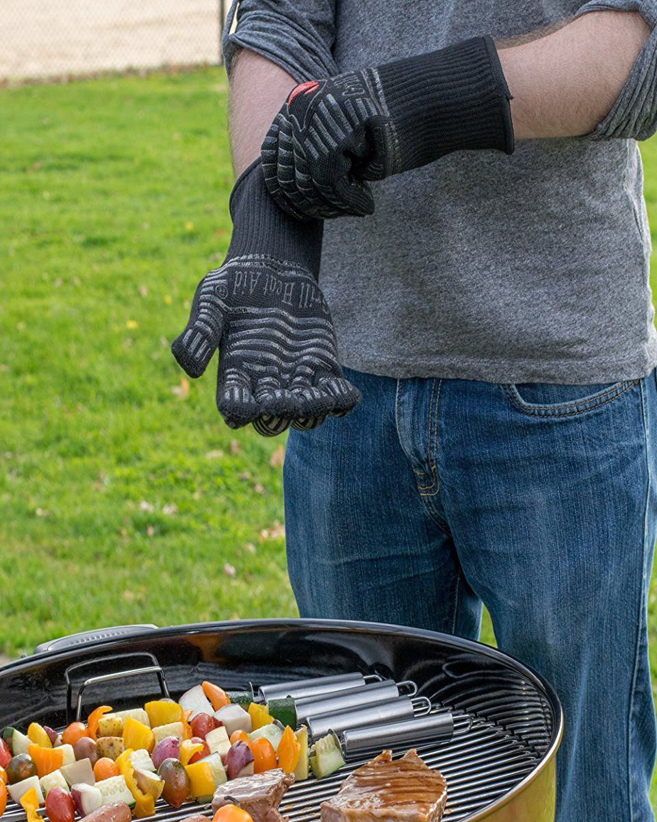 Extreme Heat Resistant Grill Gloves Premium Insulated Silicone